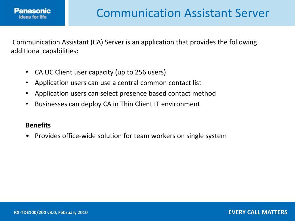 Communication Assistant Server
