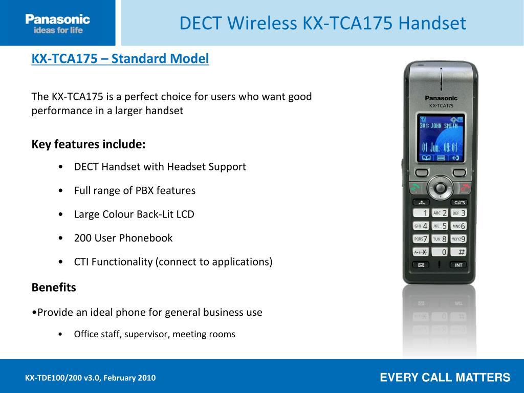 DECT Wireless KX-TCA175 Handset