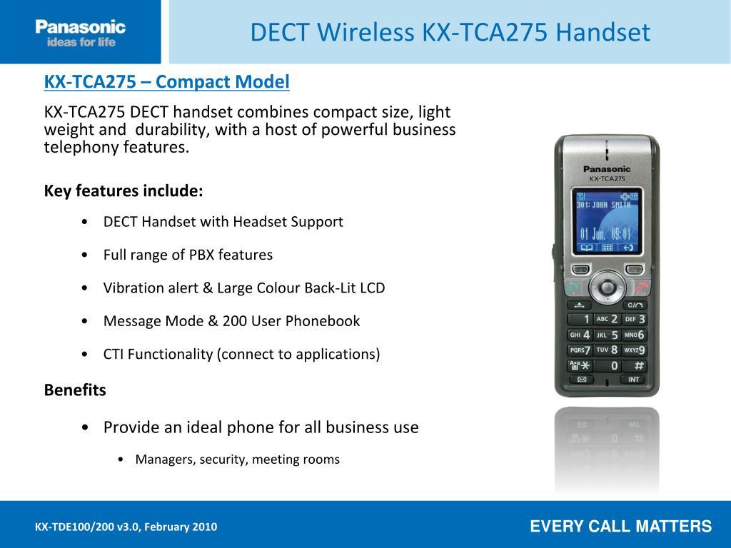 DECT Wireless KX-TCA275 Handset