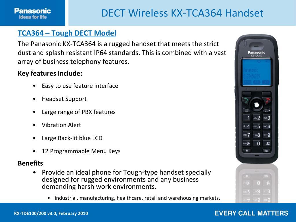 DECT Wireless KX-TCA364 Handset