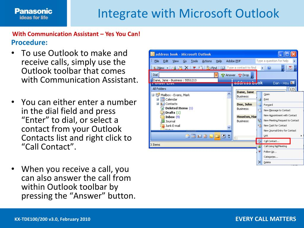 Integrate with Microsoft Outlook