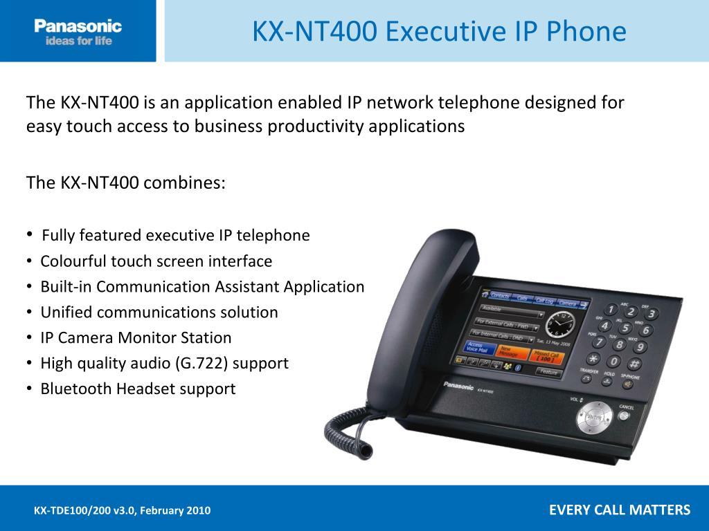 KX-NT400 Executive IP Phone