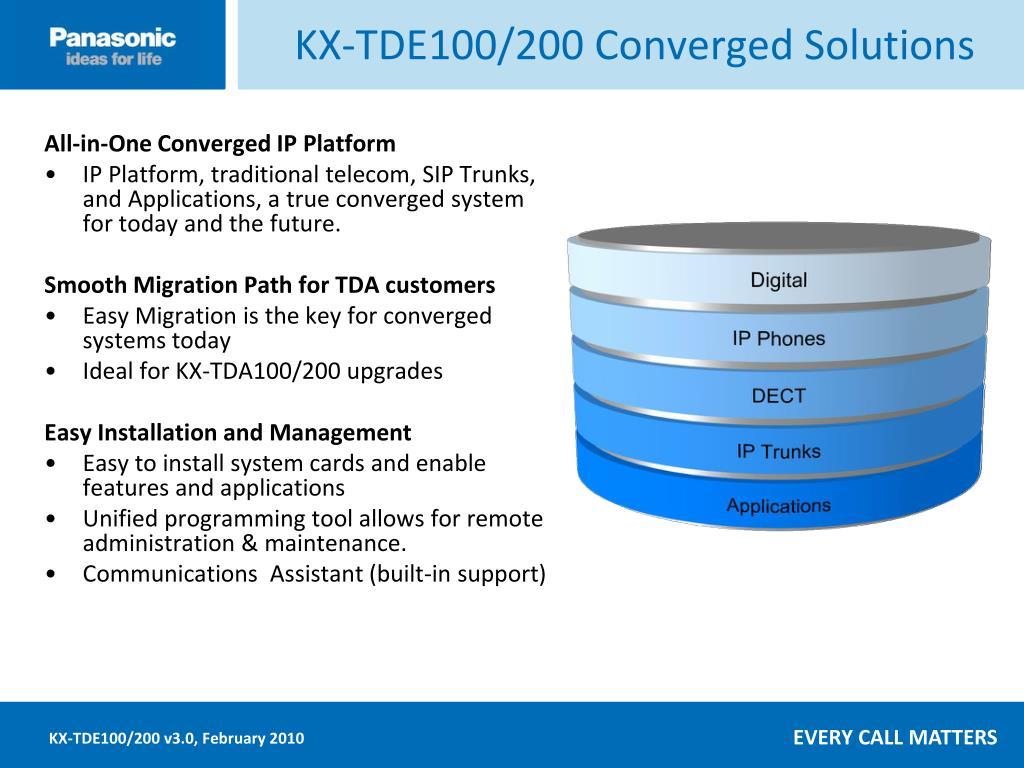 KX-TDE100/200 Converged Solutions