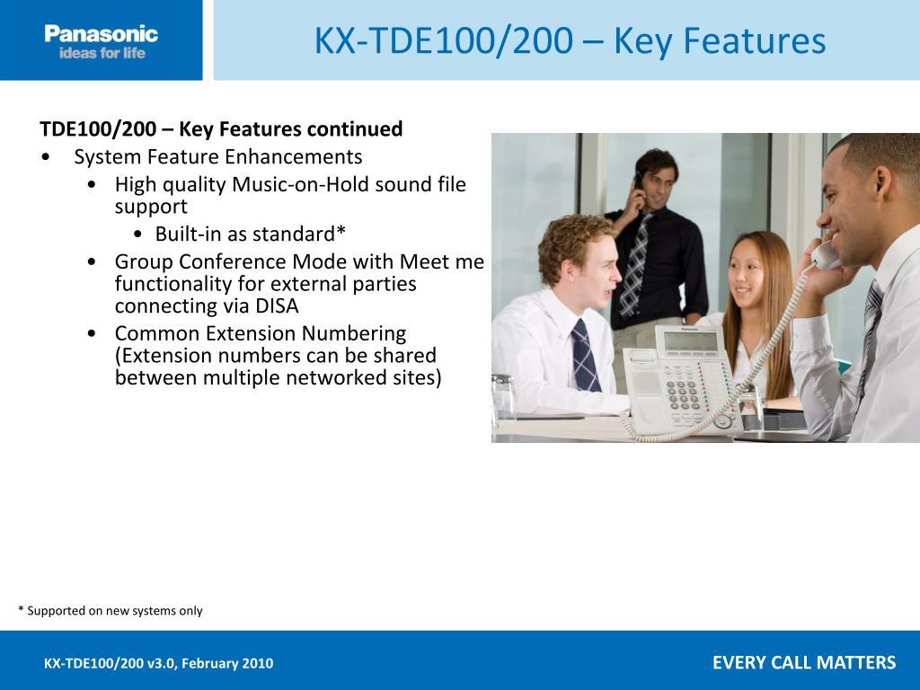 KX-TDE100/200 – Key Features