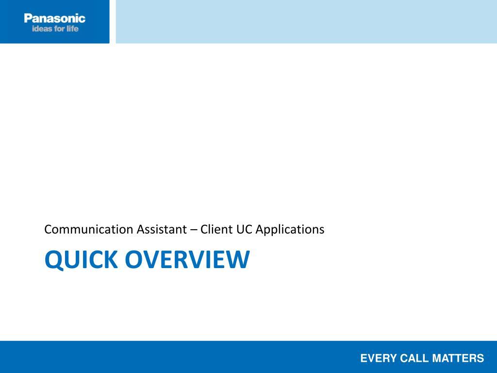 Communication Assistant – Client UC Applications