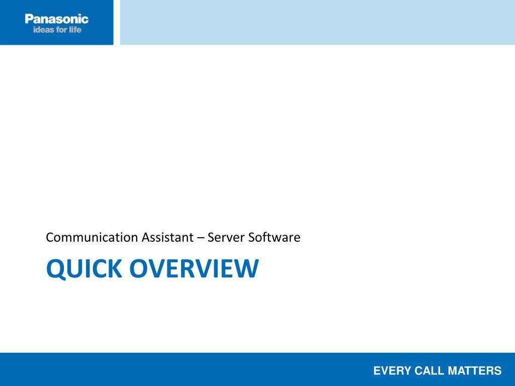 Communication Assistant – Server Software