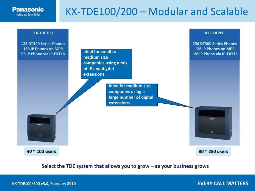 KX-TDE100/200 – Modular and Scalable