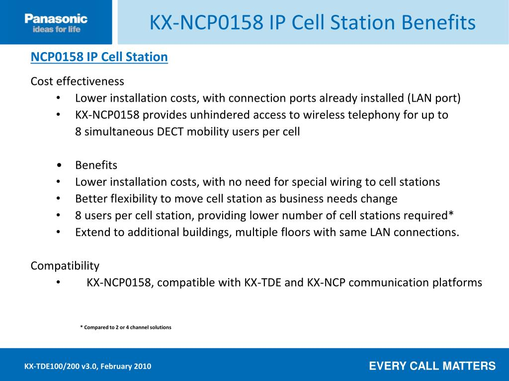KX-NCP0158 IP Cell Station Benefits