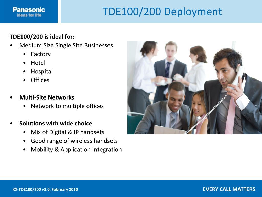 TDE100/200 Deployment