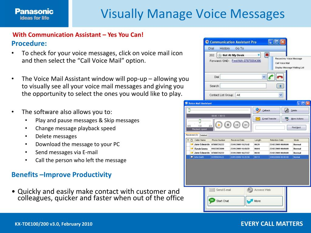 Visually Manage Voice Messages