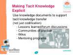 making tacit knowledge explicit