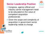 senior leadership position
