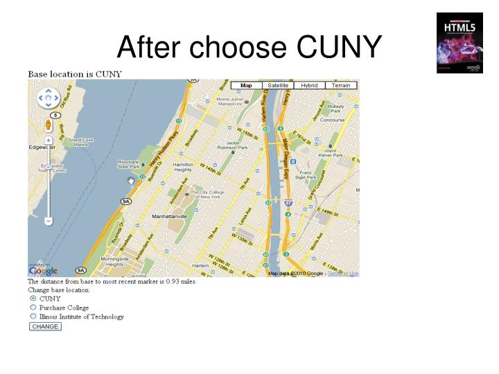 After choose CUNY