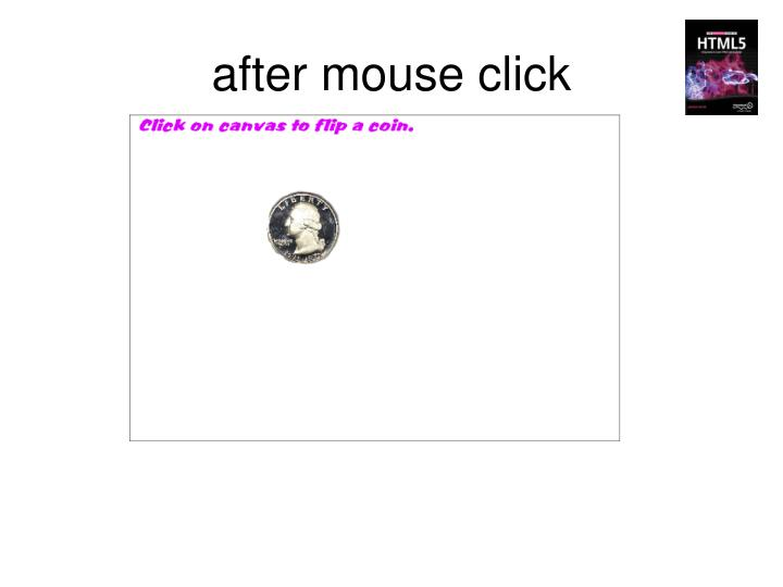 after mouse click