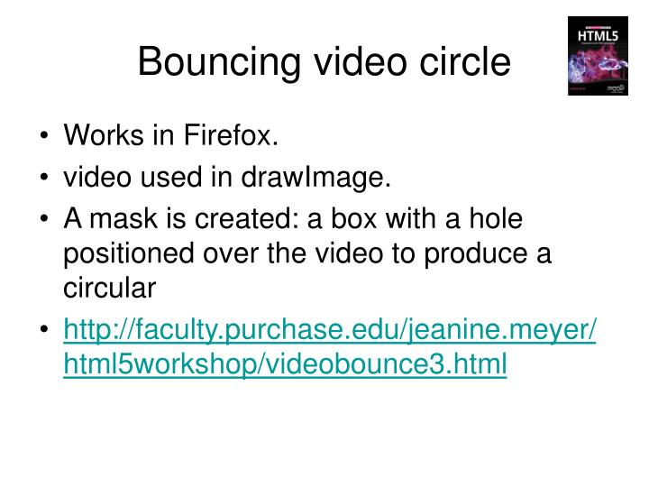 Bouncing video circle
