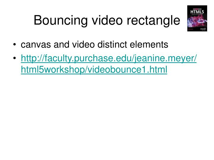 Bouncing video rectangle