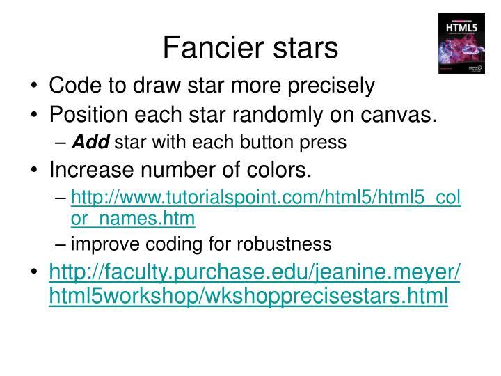 Fancier stars