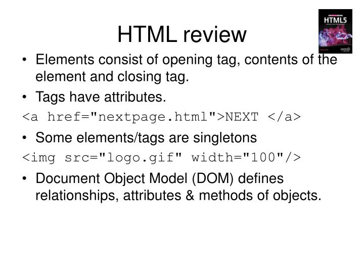 HTML review