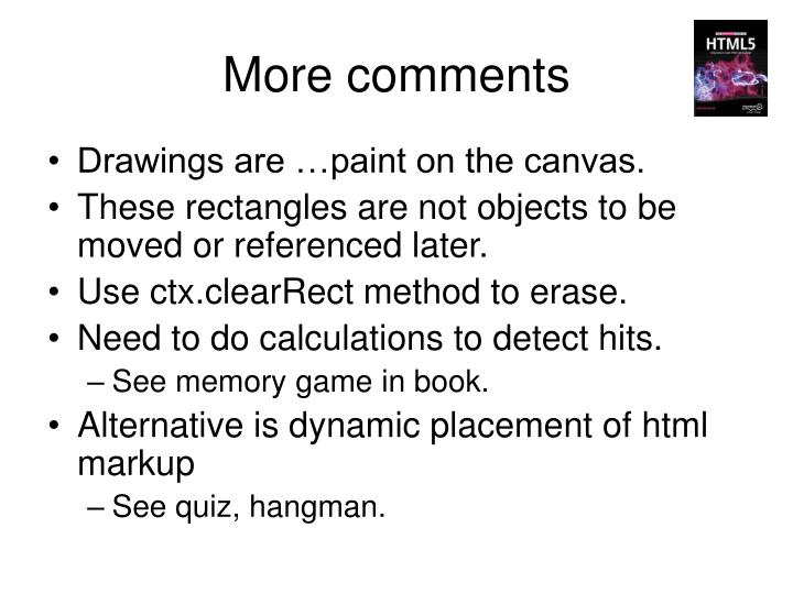 More comments