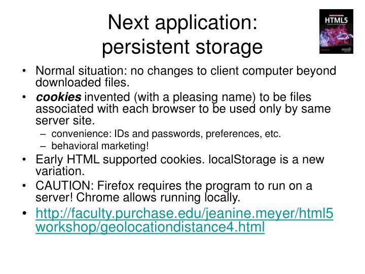 Next application: