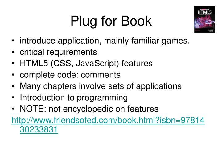 Plug for Book