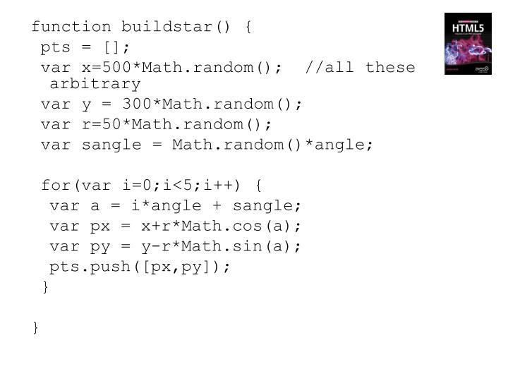 function buildstar() {