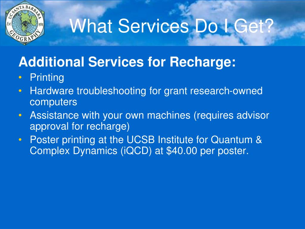 What Services Do I Get?