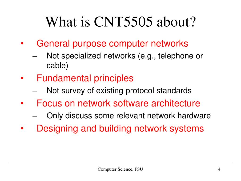 What is CNT5505 about?