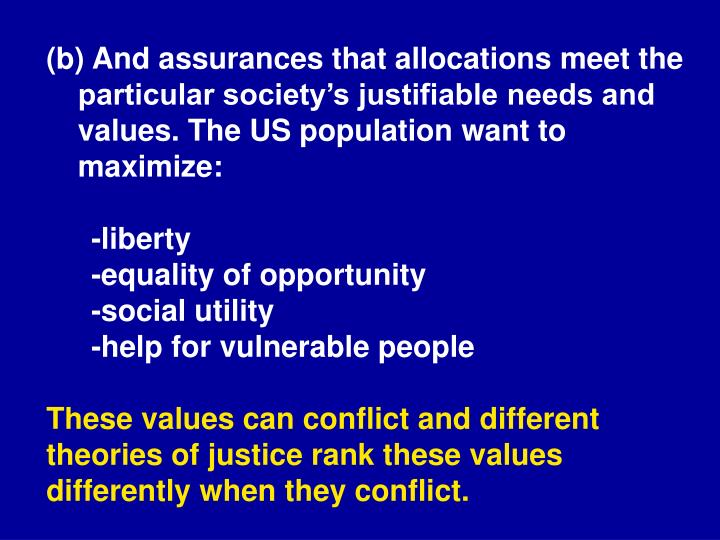 (b) And assurances that allocations meet the