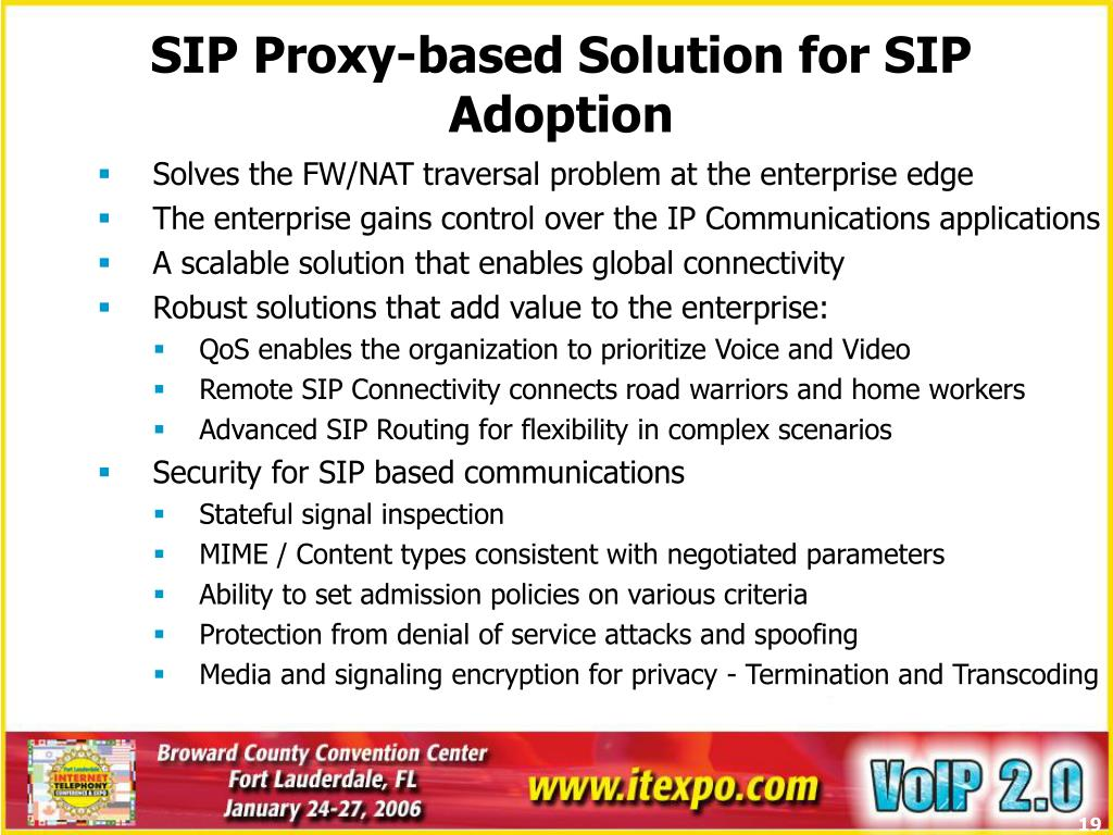 SIP Proxy-based Solution for SIP Adoption
