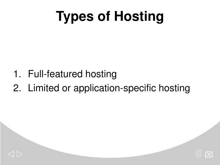 Full-featured hosting