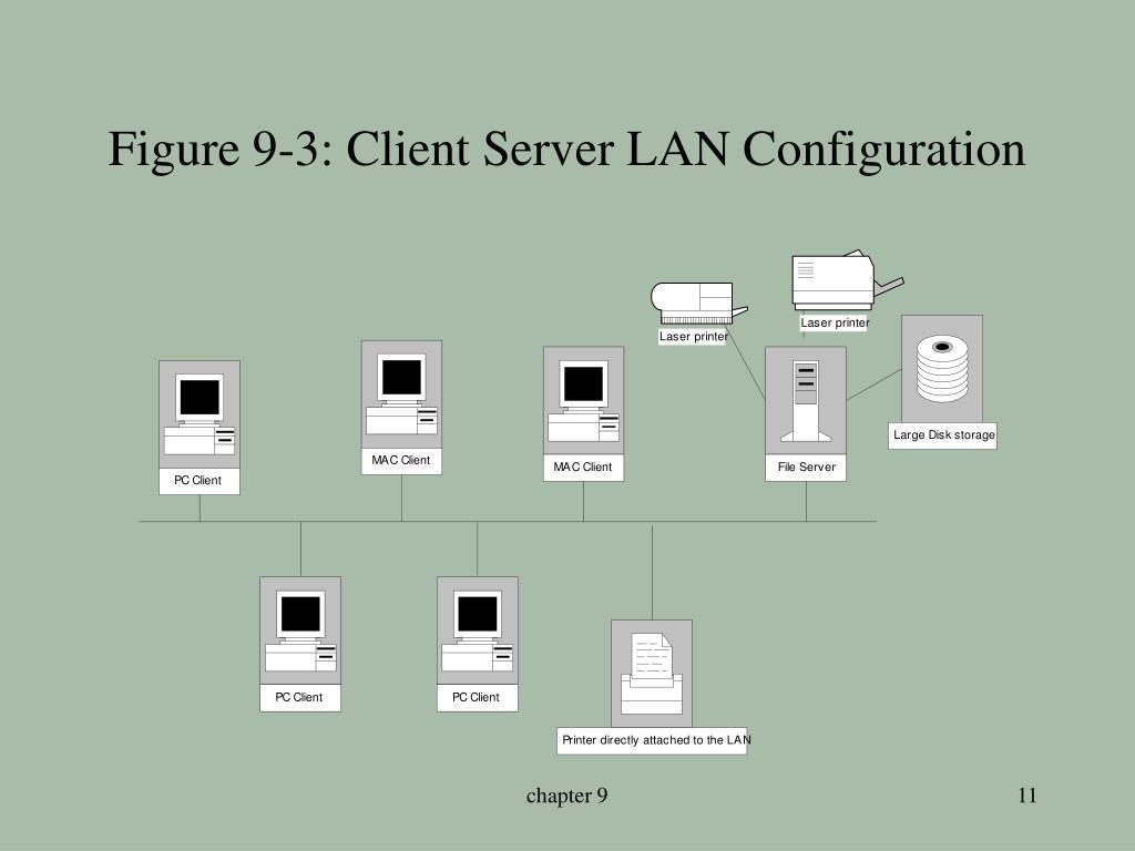 Figure 9-3: Client Server LAN Configuration