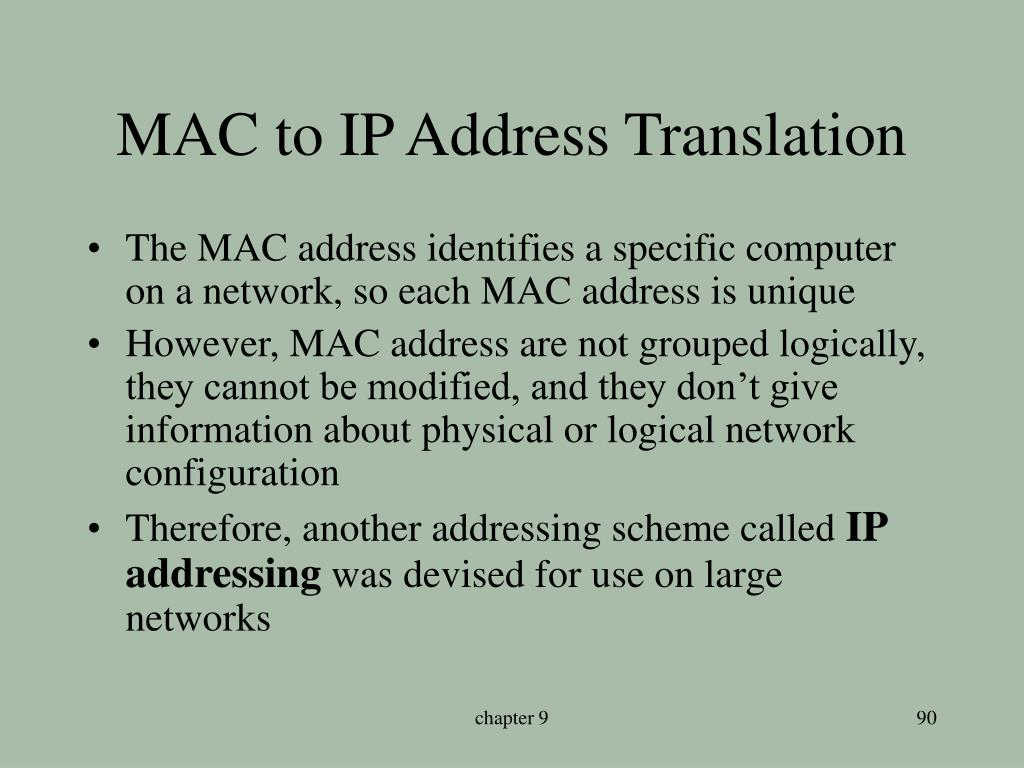 MAC to IP Address Translation