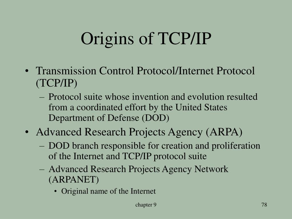 Origins of TCP/IP