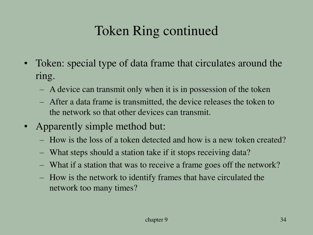 Token Ring continued