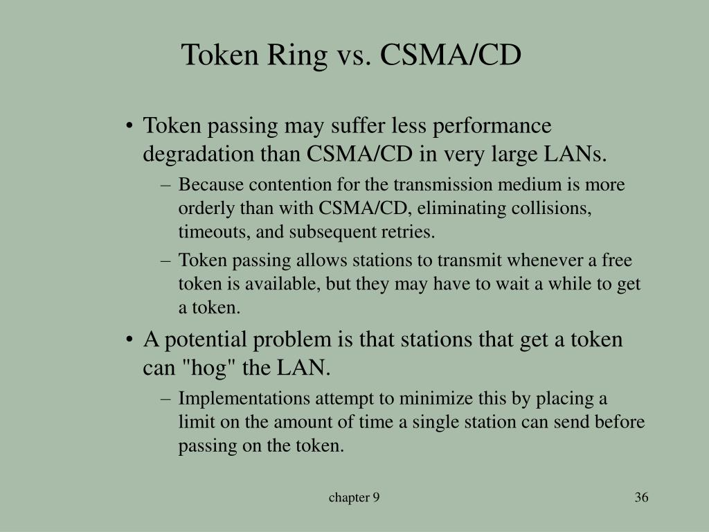 Token Ring vs. CSMA/CD