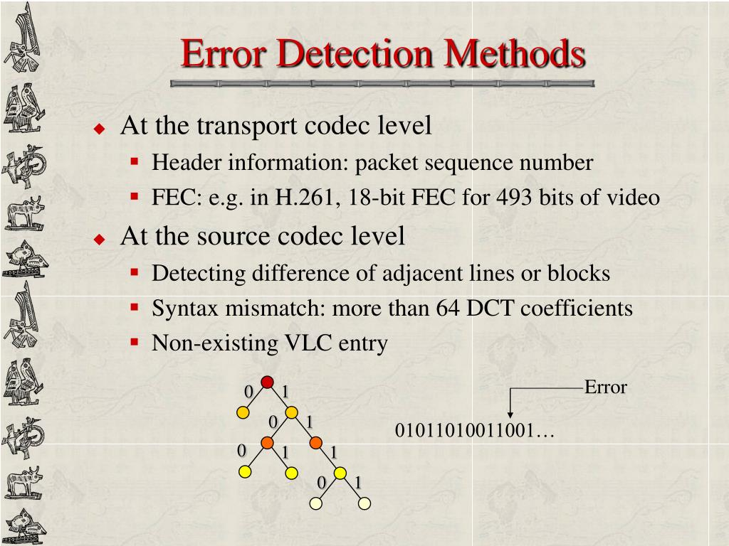 Error Detection Methods
