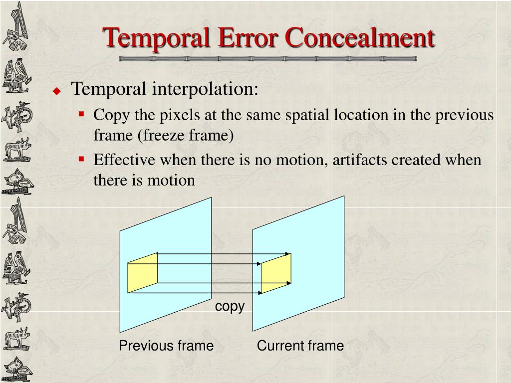 Temporal Error Concealment