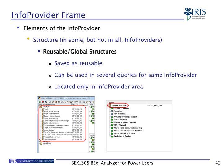 InfoProvider Frame