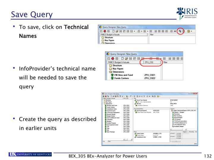 Save Query