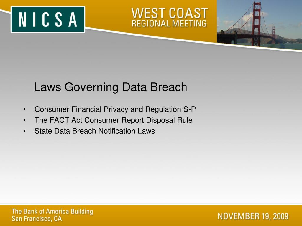 Laws Governing Data Breach