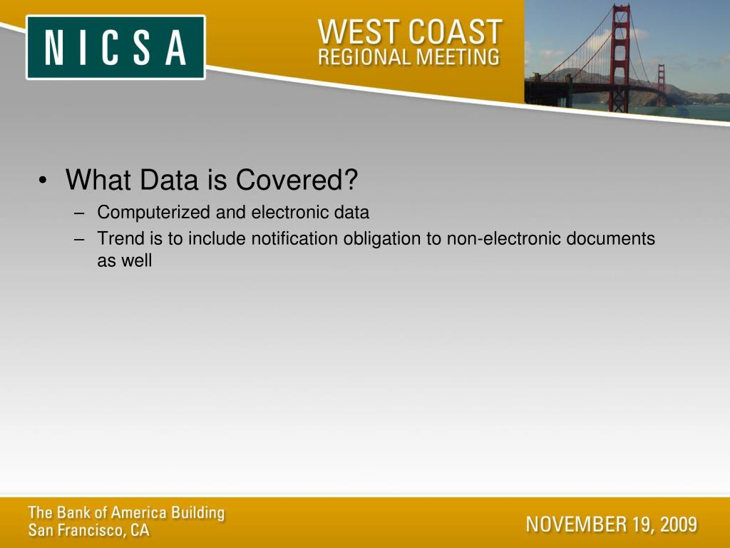 What Data is Covered?
