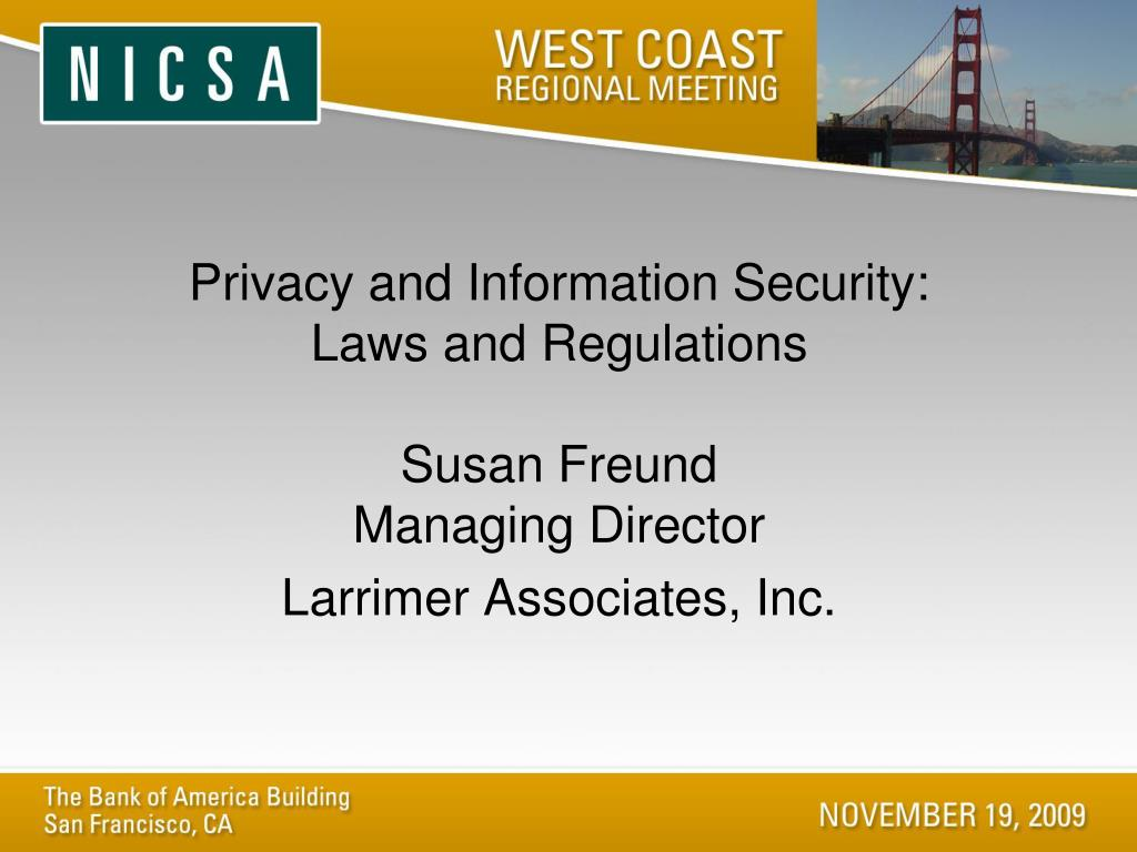 Privacy and Information Security: