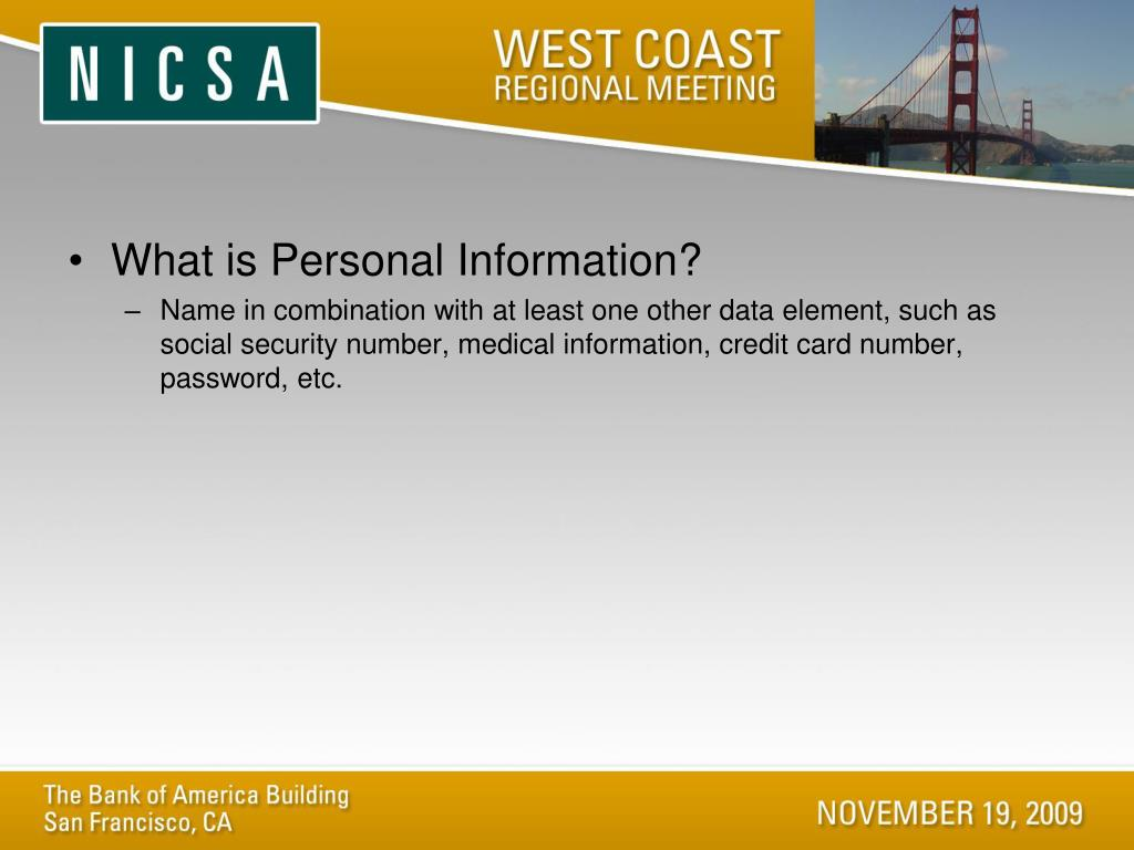 What is Personal Information?