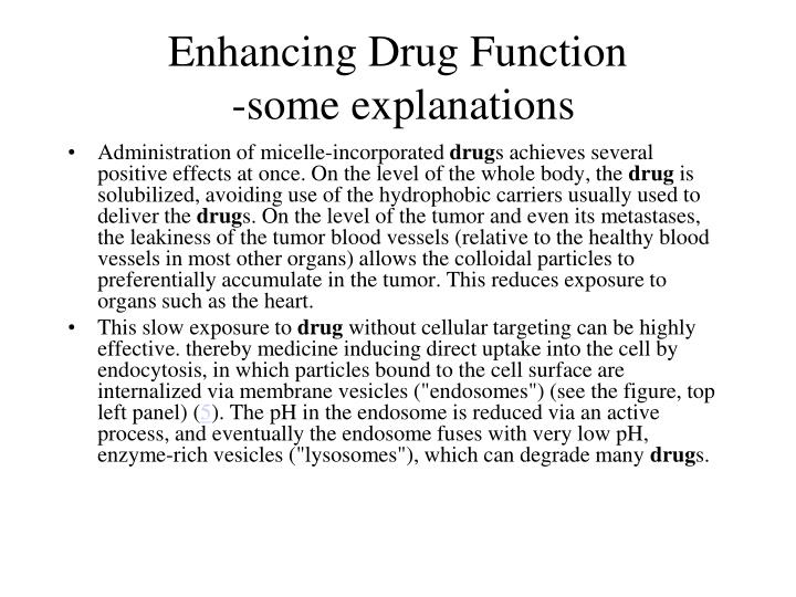 Enhancing Drug Function