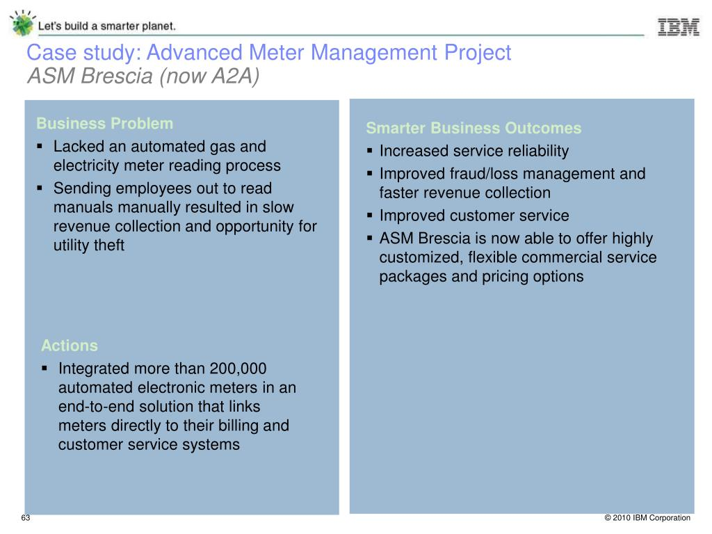 Case study: Advanced Meter Management Project