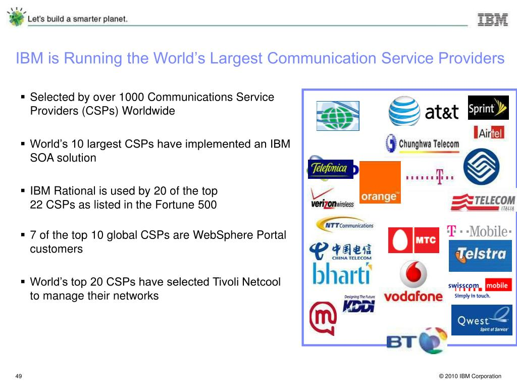 IBM is Running the World's Largest Communication Service Providers