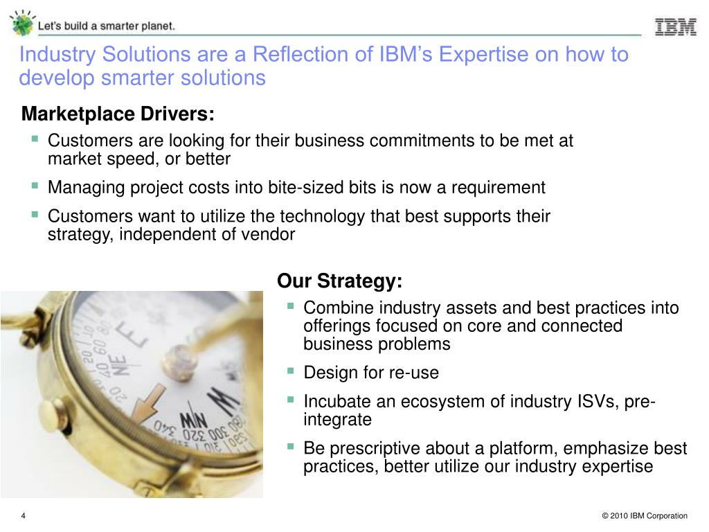 Industry Solutions are a Reflection of IBM's Expertise on how to develop smarter solutions