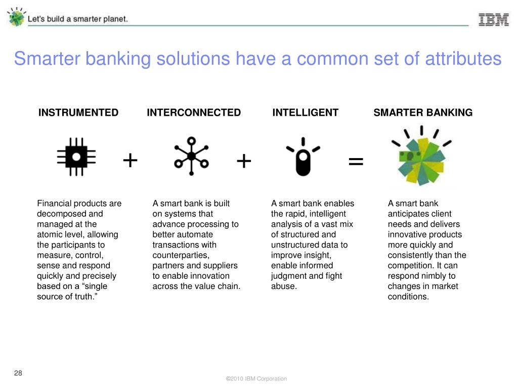 Smarter banking solutions have a common set of attributes