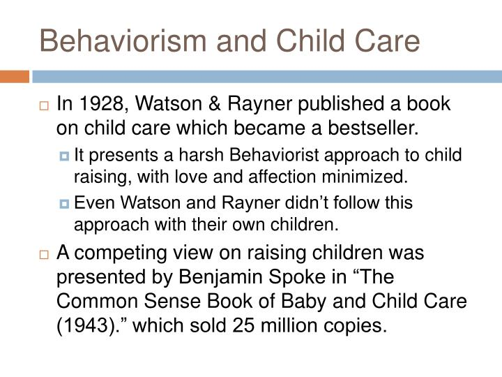 Behaviorism and Child Care
